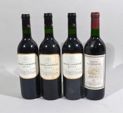 Lot comprenant :  - 3 bouteilles de ABBAYE...