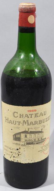 1 magnum Château Haut-Marbuzet 1969  ( Niveau...