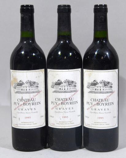 Trois bouteilles de CHATEAU PUY BOYREIN Jean...