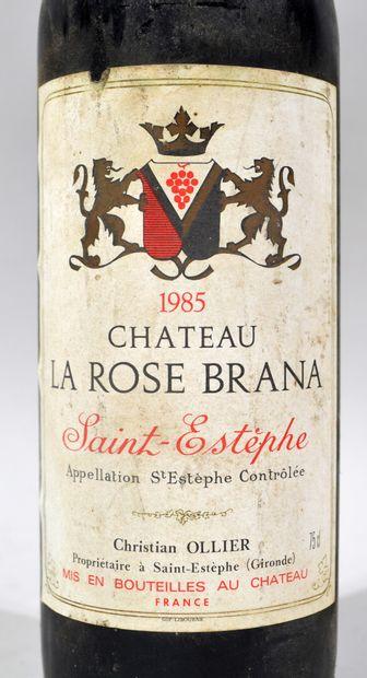 Une bouteille de CHATEAU LA ROSE BRANA Saint Estèphe 1985