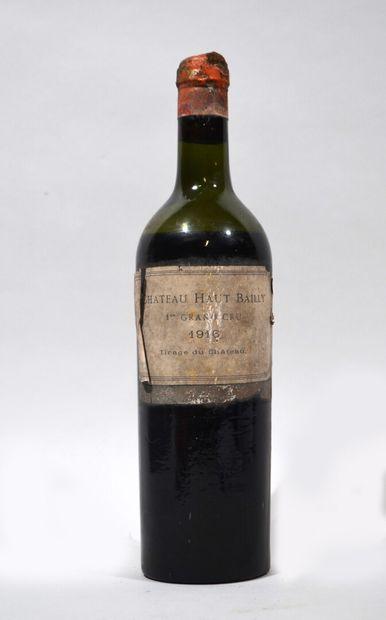 1 Bouteille de CHATEAU HAUT BAILLY 1916  Etiquette...