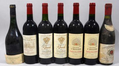 Réunion de 7 bouteilles de vin dont: 2 bouteilles...