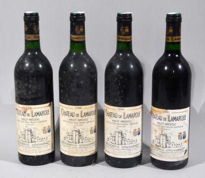 4 bouteilles de CHATEAU DE LARMARQUE Haut...
