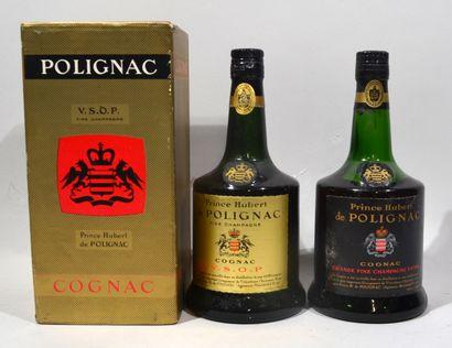 1 bouteille de COGNAC Prince de Polignac VSOP (sans son emboitage d'origine)  On...