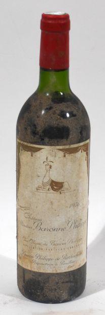 1 bouteille de CHATEAU MOUTON BARONNE PHILIPPE...