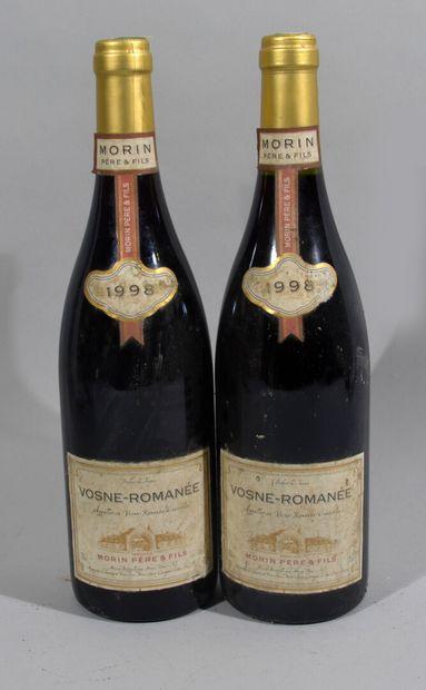 2 bouteilles de VOSNE-ROMANEE 1998 Morin...