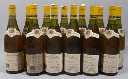 13 bouteilles de MEURSAULT Joseph Drouhin...