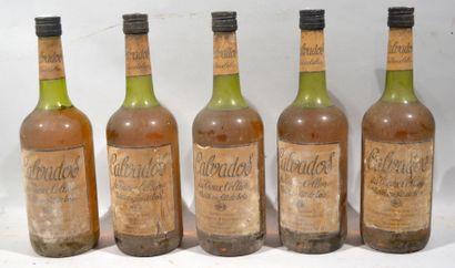 5 bouteilles de CALVADOS du Vieux Cellie...