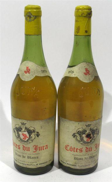 2 bouteilles de COTE DU JURA - Blanc de blancs...