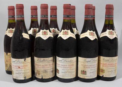 11 bouteilles de MORET SAINT DENIS Monts...