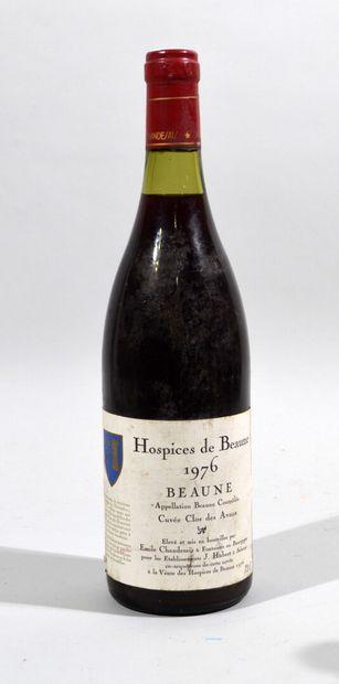 Une bouteille d'Hospices de Beaune Les Avaux...