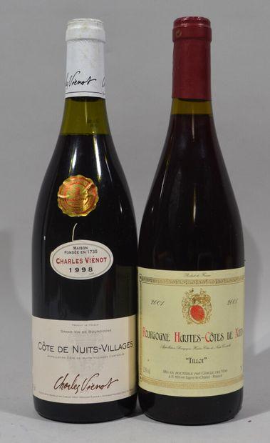 Une bouteille de BOURGOGNE HAUTES COTES DE...