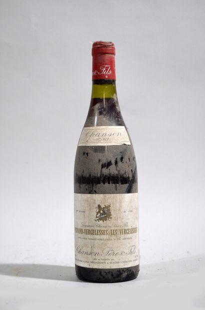 1 bouteille de PERNAND-VERGELESSES 1987 Chanson...