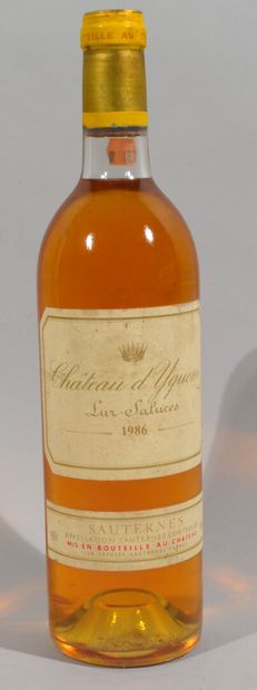 1 Bouteille CHATEAU D'YQUEM 1986, Sauternes...