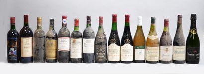 Lot de 15 bouteilles dont: Bordeaux, Chinon,...