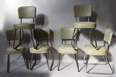 NORI déposé  Suite de six chaises de bureau...
