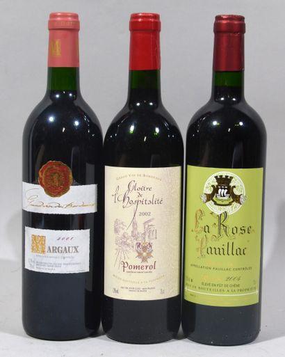 Une bouteille de LA ROSE PAUILLAC 2004  Une...