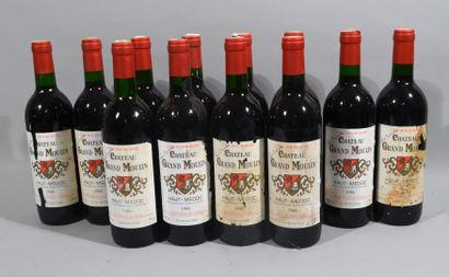 12 bouteilles de CHATEAU GRAND MOULIN Haut-médoc...