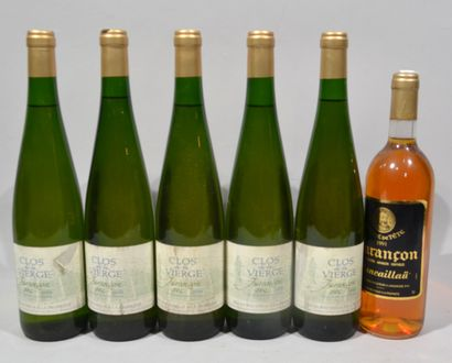5 bouteilles de CLOS DE LA VIERGE Jurançon...