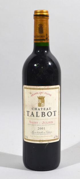 Une bouteille de CHATEAU TALBOT Saint Julien...