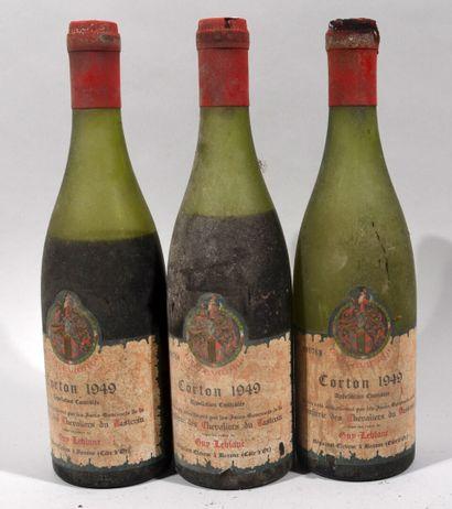 3 bouteilles de CORTON Guy Leblanc propriétaire...