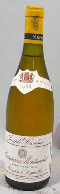 1 bouteille de CHASSAGNE MONTRACHET «Marquis...