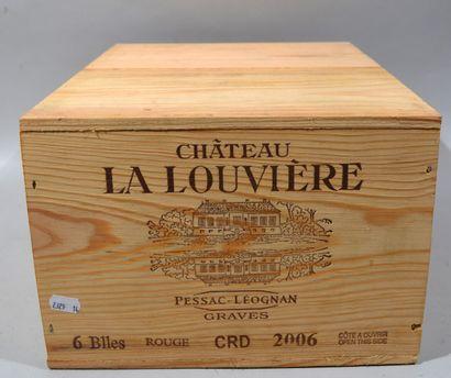 6 bouteilles Château La Louvière - PESSAC-LEOGNAN...