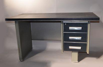 RONEO - Bureau à caisson industriel en métal...