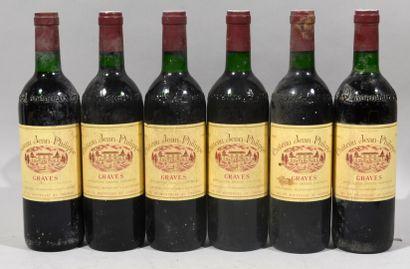 6 bouteilles de CHATEAU JEAN-PHILIPPE Graves...