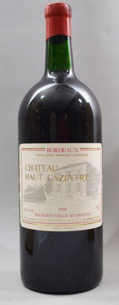 1 Jéroboam de CHATEAU HAUT-CAZEVERT 1990....