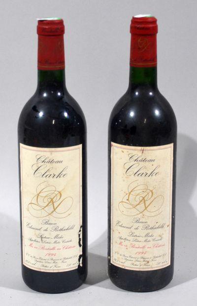 2 bouteilles de CHATEAU CLARKE Baron Edmond...