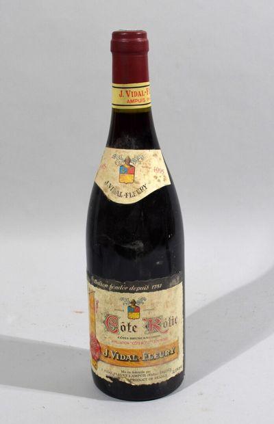 1 bouteille de COTE ROTIE 1995 J. Vidal Fleury...