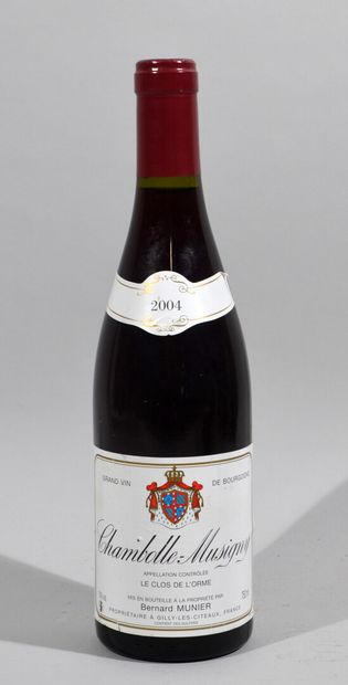 Une bouteille de CHAMBOLLE MUSIGNY