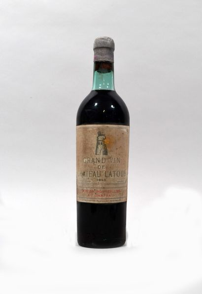 1 Bouteille de CHATEAU LATOUR Pauillac 1940...