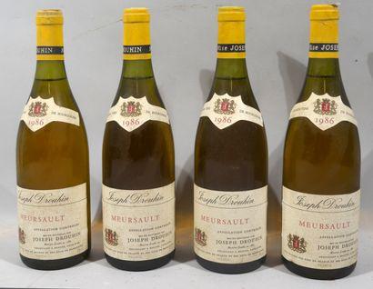 4 bouteilles de MEURSAULT Joseph Drouhin...