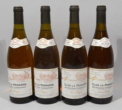4 bouteilles de CLOS LA PERRIERE Bourgogne...