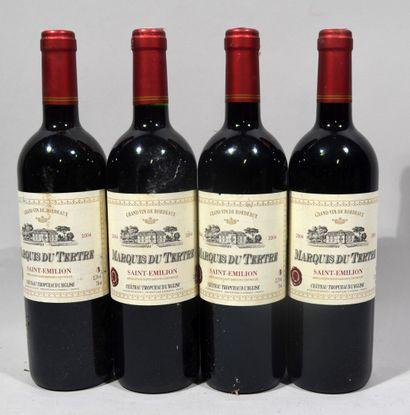 4 bouteilles de MARQUIS DU TERTRE Saint Emilion Jacqueline Jacopit propriétaire...