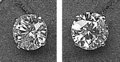 Paire BO diamants ronds taille brillant moderne...