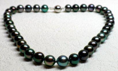 Collier en perle de Tahiti multicolores,...
