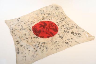 Drapeau nippon porte-bonheur en coton couvert...