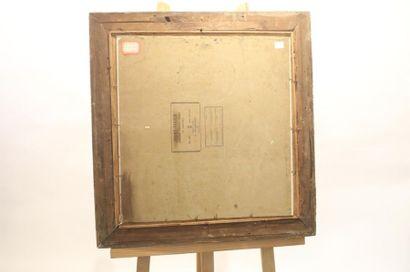 """BUYLE T """"L'Heure du goûter"""", XXe, huile sur toile marouflée sur carton, signée en..."""