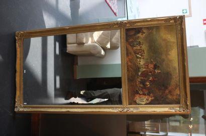 Cadre-trumeau orné d'une reproduction (