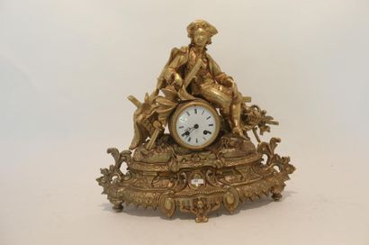 Pendule de cheminée d'époque Napoléon III...