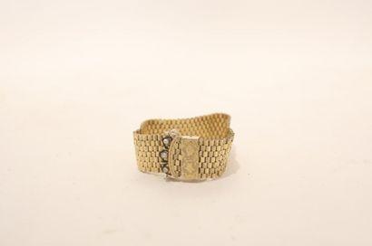 Bracelet-manchette coulissant en or jaune...