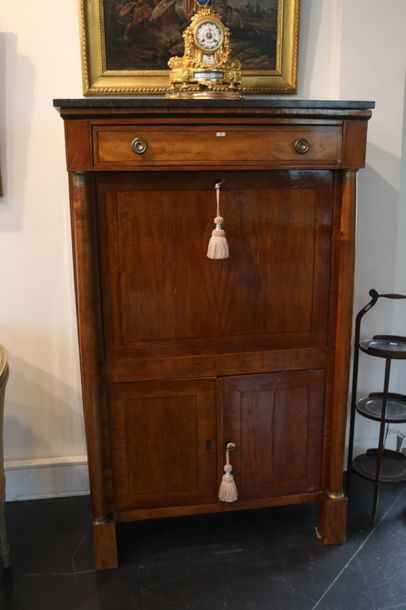 Secrétaire de dame en armoire d'époque Restauration...