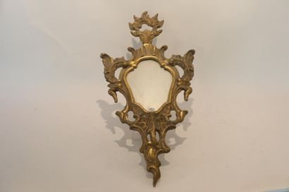 Petit miroir Rocaille, travail italien, XIXe,...