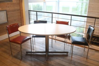 Table ovale Vintage, circa 1970, piétement...