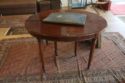 Table ovale de salle à manger d'époque Louis-Philippe,...