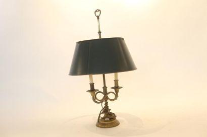 Lampe de bureau à deux bras de lumière et...
