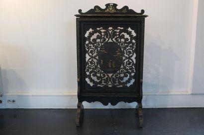 Écran de cheminée d'époque Napoléon III,...